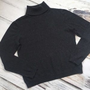 Ralph Lauren Turtleneck Sweater Gray Silk Cashmere
